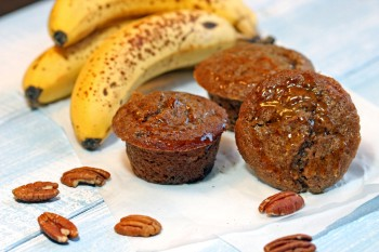 Healthy Maple Banana Bran Muffins