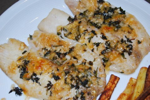 Parmesan and Herb Crusted Tilapia
