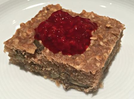 Healthy Oat Bars with Raspberry Chia Seed Jam