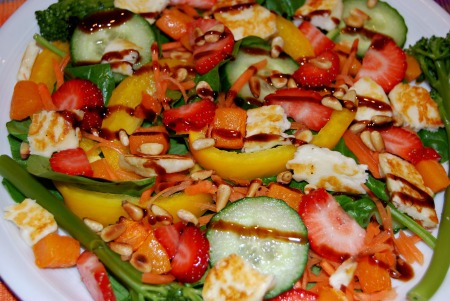 Halloumi and Strawberry Summer Salad