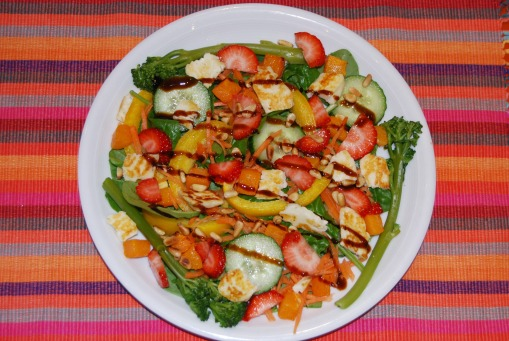 Halloumi and Strawberry Summer Salad